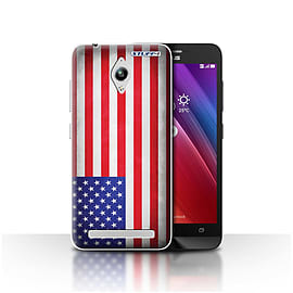 STUFF4 Case/Cover for Asus Zenfone Go ZC500TG / America/American/USA Design / Flags Collection Mobile phones