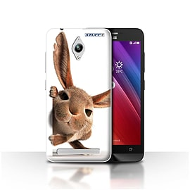 STUFF4 Case/Cover for Asus Zenfone Go ZC500TG / Peeking Bunny Design / Funny Animals Collection Mobile phones