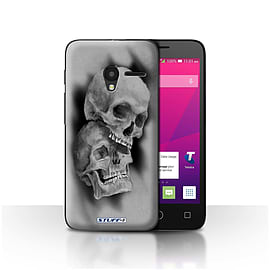 STUFF4 Case/Cover for Alcatel OneTouch Pixi 3 4 / Mist/Fog Design / Skull Art Sketch Collection Mobile phones
