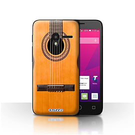 STUFF4 Case/Cover for Alcatel OneTouch Pixi 3 4 / Wood/Wooden Acoustic Design / Guitar Collection Mobile phones