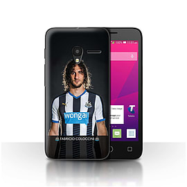 Official NUFC Case/Cover for Alcatel OneTouch Pixi 3 4/Coloccini Design/NUFC Football Player 15/16 Mobile phones