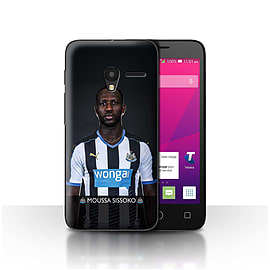 Official NUFC Case/Cover for Alcatel OneTouch Pixi 3 4/Sissoko Design/NUFC Football Player 15/16 Mobile phones
