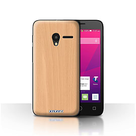 STUFF4 Case/Cover for Alcatel OneTouch Pixi 3 4.5/Beech Design/Wood Grain Effect/Pattern Mobile phones