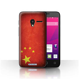 STUFF4 Case/Cover for Alcatel OneTouch Pixi 3 4 / China/Chinese Design / Flags Collection Mobile phones
