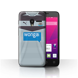 Official NUFC Case/Cover for Alcatel OneTouch Pixi 3 4.5/Goalkeeper Design/NUFC Away Shirt/Kit 15/16 Mobile phones