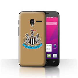 Official NUFC Case/Cover for Alcatel OneTouch Pixi 3 4.5/Colour/Gold Design/NUFC Football Crest Mobile phones