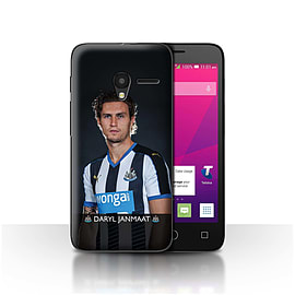 Official NUFC Case/Cover for Alcatel OneTouch Pixi 3 4.5/Janmaat Design/NUFC Football Player 15/16 Mobile phones