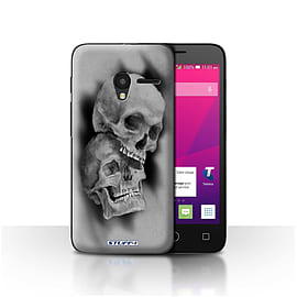 STUFF4 Case/Cover for Alcatel OneTouch Pixi 3 4.5 / Mist/Fog Design / Skull Art Sketch Collection Mobile phones