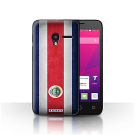 STUFF4 Case/Cover for Alcatel OneTouch Pixi 3 4.5 / Costa Rica/Rican Design / Flags Collection Mobile phones