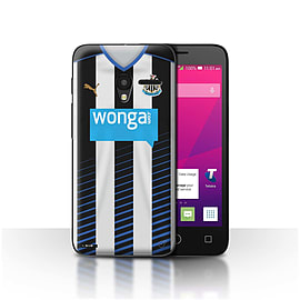Official NUFC Case/Cover for Alcatel OneTouch Pixi 3 5/Footballer Design/NUFC Home Shirt/Kit 15/16 Mobile phones