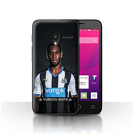 Newcastle United FC Case/Cover for Alcatel OneTouch Pixi 3 5/Anita Design/NUFC Football Player 15/16 Mobile phones