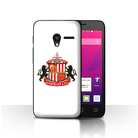 Sunderland AFC Case/Cover for Alcatel OneTouch Pixi 3 5/White Design/SAFC Football Club Crest Mobile phones