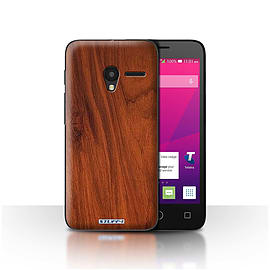 STUFF4 Case/Cover for Alcatel OneTouch Pixi 3 5/Mahogany Design/Wood Grain Effect/Pattern Mobile phones