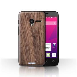 STUFF4 Case/Cover for Alcatel OneTouch Pixi 3 5/Walnut Design/Wood Grain Effect/Pattern Mobile phones
