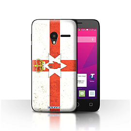 STUFF4 Case/Cover for Alcatel OneTouch Pixi 3 5 / Northern Ireland Design / Flags Collection Mobile phones