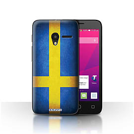 STUFF4 Case/Cover for Alcatel OneTouch Pixi 3 5 / Sweden/Swedish Design / Flags Collection Mobile phones