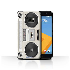 STUFF4 Case/Cover for HTC 10/One M10 (2016) / Boombox Design / Retro Tech Collection Mobile phones