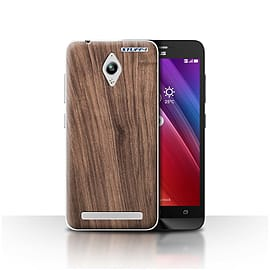 STUFF4 Case/Cover for Asus Zenfone Go ZC500TG / Walnut Design / Wood Grain Effect/Pattern Collection Mobile phones