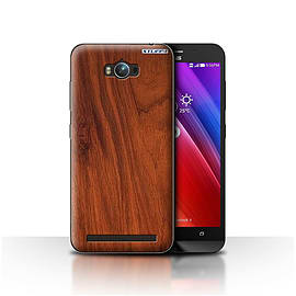 STUFF4 Case/Cover for Asus Zenfone Max ZC550KL/Mahogany Design/Wood Grain Effect/Pattern Mobile phones