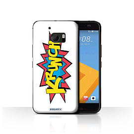 STUFF4 Case/Cover for HTC 10/One M10 (2016) / Krunch Design / Comics/Cartoon Words Collection Mobile phones