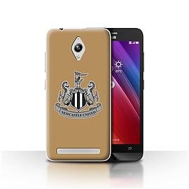 Newcastle United FC Case/Cover for Asus Zenfone Go ZC500TG/Mono/Gold Design/NUFC Football Crest Mobile phones