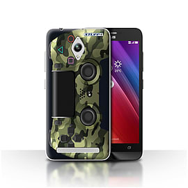 STUFF4 Case/Cover for Asus Zenfone Go ZC500TG / Green Camouflage Design / Playstation PS4 Collection Mobile phones