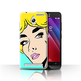 STUFF4 Case/Cover for Asus Zenfone Go ZC500TG/Blonde Hair Design/Comic Illustrated Girls Mobile phones