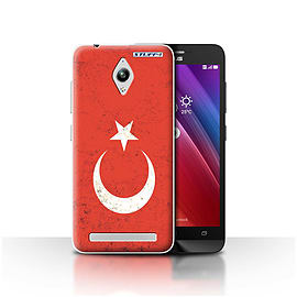 STUFF4 Case/Cover for Asus Zenfone Go ZC500TG / Turkey/Turkish Design / Flags Collection Mobile phones