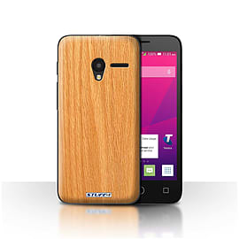STUFF4 Case/Cover for Alcatel OneTouch Pixi 3 4 / Pine Design / Wood Grain Effect/Pattern Collection Mobile phones
