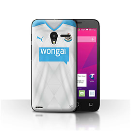 Official NUFC Case/Cover for Alcatel OneTouch Pixi 3 4.5/Footballer Design/NUFC Away Shirt/Kit 15/16 Mobile phones