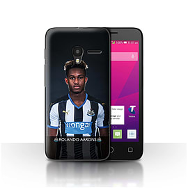 Official NUFC Case/Cover for Alcatel OneTouch Pixi 3 4.5/Aarons Design/NUFC Football Player 15/16 Mobile phones