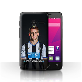 Official NUFC Case/Cover for Alcatel OneTouch Pixi 3 4.5/Colback Design/NUFC Football Player 15/16 Mobile phones