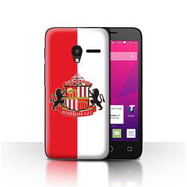 Sunderland AFC Case/Cover for Alcatel OneTouch Pixi 3 4.5/Red/White Design/SAFC Football Club Crest Mobile phones