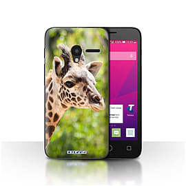 STUFF4 Case/Cover for Alcatel OneTouch Pixi 3 4.5 / Giraffe Design / Wildlife Animals Collection Mobile phones