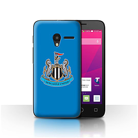 Newcastle United FC Case/Cover for Alcatel OneTouch Pixi 3 4/Colour/Blue Design/NUFC Football Crest Mobile phones