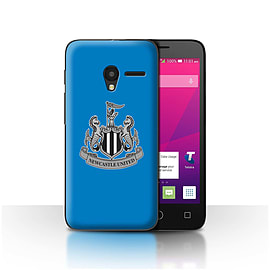 Newcastle United FC Case/Cover for Alcatel OneTouch Pixi 3 4/Mono/Blue Design/NUFC Football Crest Mobile phones