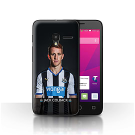 Official NUFC Case/Cover for Alcatel OneTouch Pixi 3 4/Colback Design/NUFC Football Player 15/16 Mobile phones