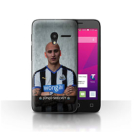 Official NUFC Case/Cover for Alcatel OneTouch Pixi 3 4/Shelvey Design/NUFC Football Player 15/16 Mobile phones