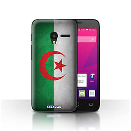 STUFF4 Case/Cover for Alcatel OneTouch Pixi 3 4 / Algeria/Algerian Design / Flags Collection Mobile phones