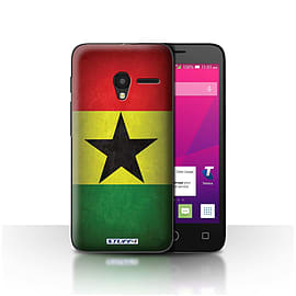 STUFF4 Case/Cover for Alcatel OneTouch Pixi 3 4 / Ghana/Ghanaian Design / Flags Collection Mobile phones