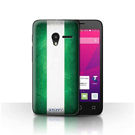 STUFF4 Case/Cover for Alcatel OneTouch Pixi 3 4 / Nigeria/Nigerian Design / Flags Collection Mobile phones