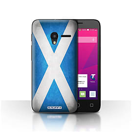 STUFF4 Case/Cover for Alcatel OneTouch Pixi 3 4 / Scotland/Scottish Design / Flags Collection Mobile phones