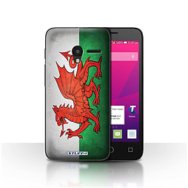 STUFF4 Case/Cover for Alcatel OneTouch Pixi 3 4 / Wales/Welsh Design / Flags Collection Mobile phones