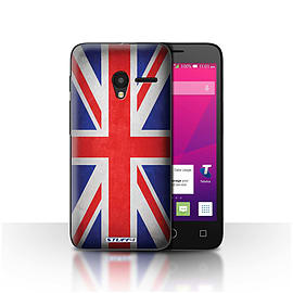STUFF4 Case/Cover for Alcatel OneTouch Pixi 3 4.5 / Great Britain/British Design / Flags Collection Mobile phones