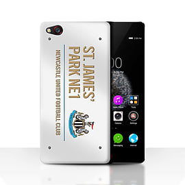 Official Newcastle United FC Case/Cover for ZTE Nubia Z9/White/Gold Design/St James Park Sign Mobile phones