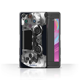 STUFF4 Case/Cover for Sony Xperia X / White Camouflage Design / Playstation PS4 Collection Mobile phones