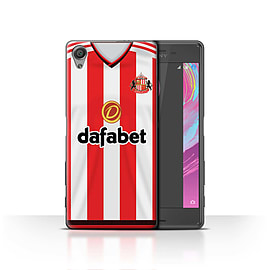 Official Sunderland AFC Case/Cover for Sony Xperia X/Footballer Design/SAFC Home Shirt/Kit 15/16 Mobile phones