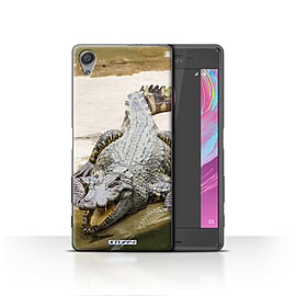 STUFF4 Case/Cover for Sony Xperia X / Crocodile Design / Wildlife Animals Collection Mobile phones