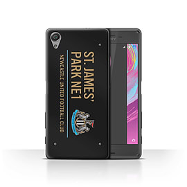 Newcastle United FC Case/Cover for Sony Xperia X Performance/Black/Gold Design/St James Park Sign Mobile phones