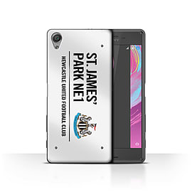 Newcastle United FC Case/Cover for Sony Xperia X Performance/White/Black Design/St James Park Sign Mobile phones